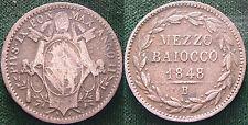 1848  Bologna Pio  IX   Mezzo Baiocco