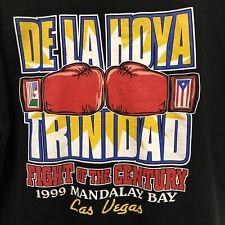 Vintage Oscar De La Hoya Vs Trinidad Fight Of Millennium Vegas 1999 Sz L Shirt