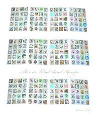 3 juegos de Alicia en el país de las maravillas Sello Pegatinas Vintage Craft Cardmaking Boda