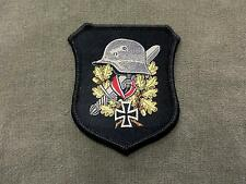 German Helmet Woven Patch