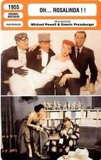 FICHE CINEMA :  OH ROSALINDA - Quayle,Walbrook 1955