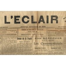 L'ÉCLAIR 28-7-1916 Incendie de la Boissellerie à SAUVE-ARLES La JUIVE aux Arènes