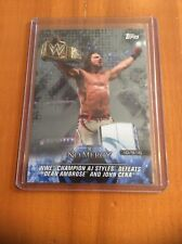 2018 Topps WWE AJ Styles Silver #16/25 Road To Wrestlemania Card 56