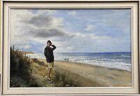 Frau am Meer Strand Ostsee Zingst Prerow Fischland Darss G. Pechstein 43 x 63