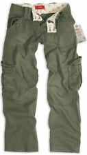 Surplus Women Cargo Pants 6 Pockets Trousers Cotton Olive