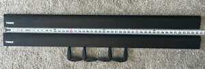 """Thule 47"""" Black AeroBlade Load Bar -ARB47B- Complete Set -Great Used Condition!!"""