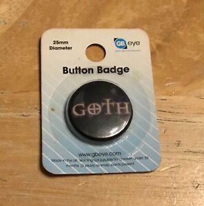 Goth Button Badge