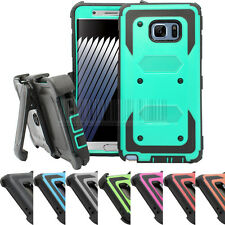 Shockproof Rugged Hybrid Armor Rubber Protective Case Kickstand Cover Belt Clip