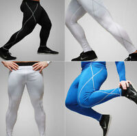Hot Long Leggings Thermal Compression Under Men's Tight Base Layer Pants #M-XXL