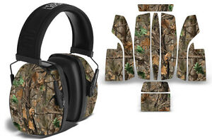 Sticker Wrap Decal  Fits: Howard Leightning L3  Ear Shooting Muffs Skin WOODLAND