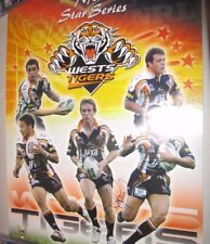 Scott Prince signed West Tigers 5 player poster + Photo Proof & COA  (#835)