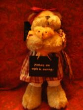 """Flame Homeware Mothers Are Angels in Training Bear  with tag 13"""" tall VGC (B145)"""