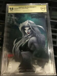 Lady Death Merciless Onslaught 1 Turner Premium Foil Edition Variant CBCS 9.8