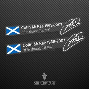 """The ORIGINAL Colin McRae """"If in doubt, flat out"""" Sticker - Body panel or window"""
