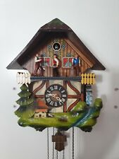 Schmeckenbecher Animated Chalet musical Cuckoo Clock -fully working- lumberjack
