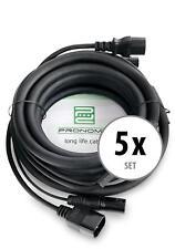 5x Bühne Licht Strom DMX Hybrid Kabel Kombi Beleuchtung Effekt Verlängerung 5m