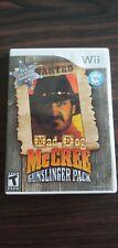 Mad Dog McCree: Gunslinger Pack Nintendo Wii 2009 Complete Case Manual Rare