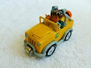 Dora the Explorer Diego Yellow Jeep LEARNING CURVE Magnet Toy Vehicle CAR  2007