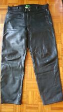 Mens Leather Mars Motorcycle Jeans