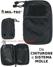 Tasca utility multiuso OFFICE nera miltec da cinturone o molle porta smartphone