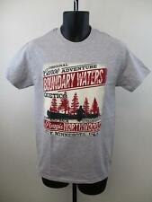 NEW- Boundary Waters Ely MN Minnesota Adult Mens Size S Small Gray Shirt