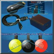 Power Supply Wall Charger + Cable FOR Chromecast Amazon Fire Streaming TV Stick