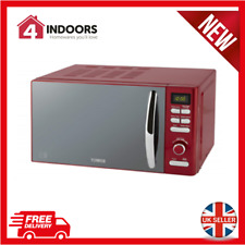 Tower Inifinity T24019R 800W 20L Digital Solo Microwave in Red - Brand New