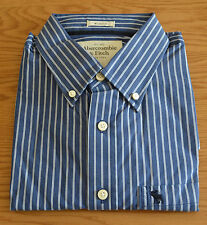 Abercrombie & Fitch Men's Striped Button Down Casual Shirts & Tops