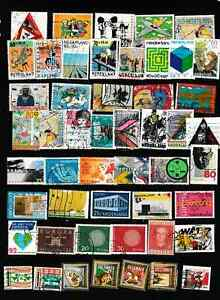 #3535=Netherlands used selection of 50 different stamps