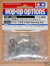 Tamiya 54025 TT-01 Type E Ball Bearing Set (TT01E/TT01ED/TT01ES/TT01ER), NIP