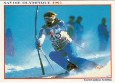 ALBERVILLE jeux olympiques d'hiver J.O. de 1992 slalom spécial hommes ski skieur