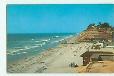 Vtg. Encinitas, California - Moonlight Beach State Park Beach Scene Carlos Elmer