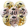 Gold Happy Birthday Banner Balloons 18/21st/30/40/50/60/70/80/90th Party Decor