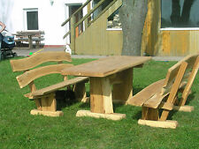 Gartenmöbel, Sitzgruppe, Eiche, 2 m
