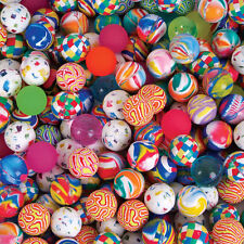 "(1500) Assorted Super Hi Bounce Balls High Bounce 27mm 1"" Vending New #Aa70"