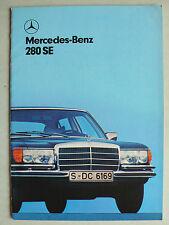 Prospekt Mercedes 280 SE - W 116, 7.1978, 36 Seiten, englisch