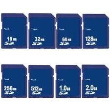 16MB 32MB 64MB 128MB 256MB 512MB 1GB 2GB Secure Digital Memory SD Card Standard