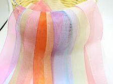 "10 Meter 38mm(1-1/2"") Sheer Organza Ribbon Gift Bow Wedding Craft 10 Color"