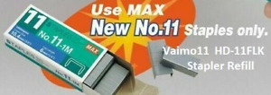 1000 MAX 11 Staples NO.11-1M for Vaimo 11 Flat Clinch HD-11FLK Stapler