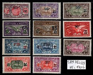 St Pierre & Miquelon : Série 118 à 128, Neufs ** = Cote 130 € / Timbres DOM-TOM