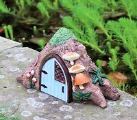 Solar Powered Light Decorative Secret Fairy Garden Ornament  Tree House log