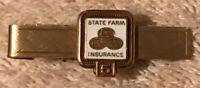 Vintage State Farm Insurance 1/10 10k Gold Filled 5 Year Award 1/20 12K Tie Clip