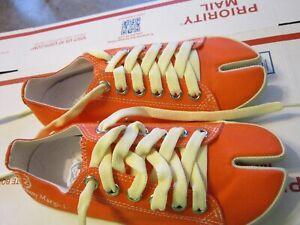 Maison Martin Margiela Tabi orange canvas sneakers
