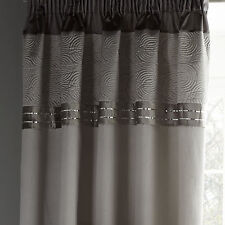 Catherine Lansfield Gatsby Silver 66x72 Pencil Pleat Sequin Ready Made Curtains