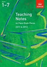 L'insegnamento Note Per Pianoforte Exam PEZZI 2011 & 2012, gradi 17, NUOVO, Williams, antho