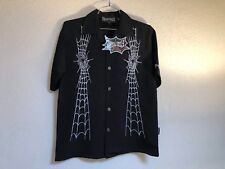 Dragonfly Clothing Company Spider Embroidered Shirts FT-704 Spun Out Black
