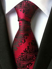 (NT116) hecho a mano de seda rojo Paisley Diseño hombres Corbata Corbata de Boda Fiesta De Oficina