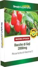Bacche di Goji 2000mg Blister  120 Cpr Ricche di polifenoli  B198