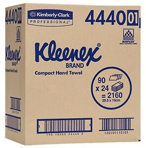 4440 Kleenex Compact Hand Towel 24 Packs x 90 Towels