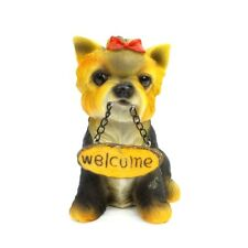 Shih Tzu Welcome Sign Figurine Collectible Dog Statue Home Decor